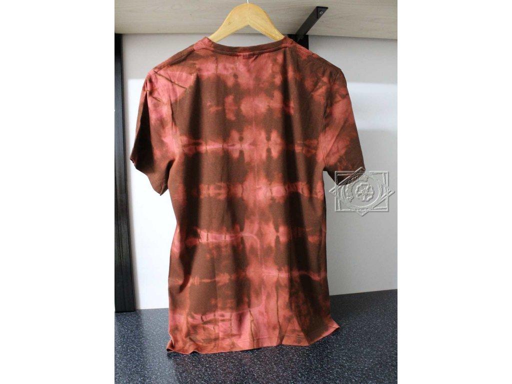 t-shirt uni M brown batik cotton