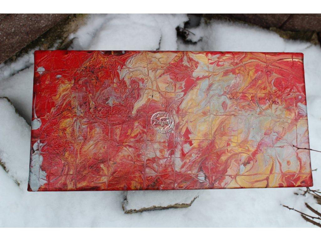 ručne maľovaná závesná dekorácia,kusovka