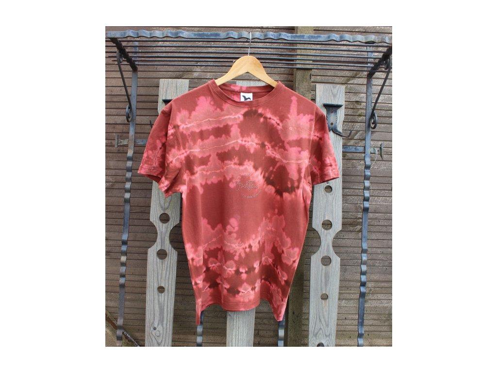 t-shirt uni L brown batik cotton