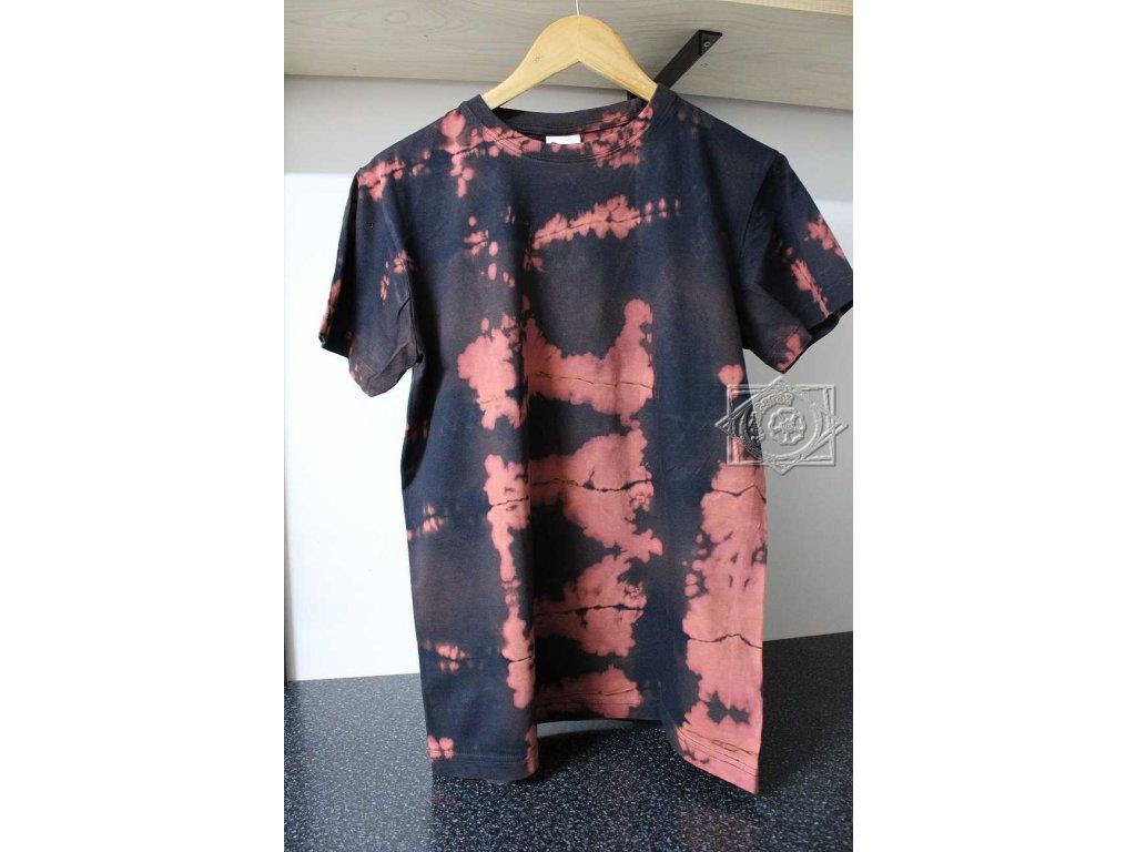 t-shirt uni M black batik cotton