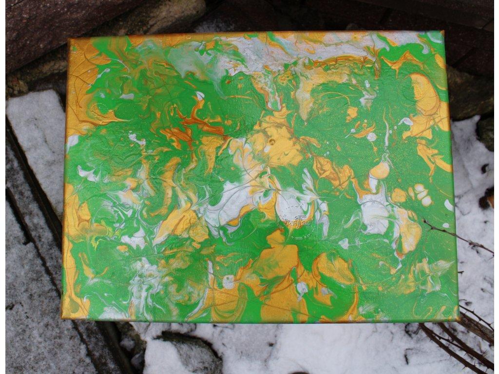 závesná dekorácia 40x30x2cm farebná