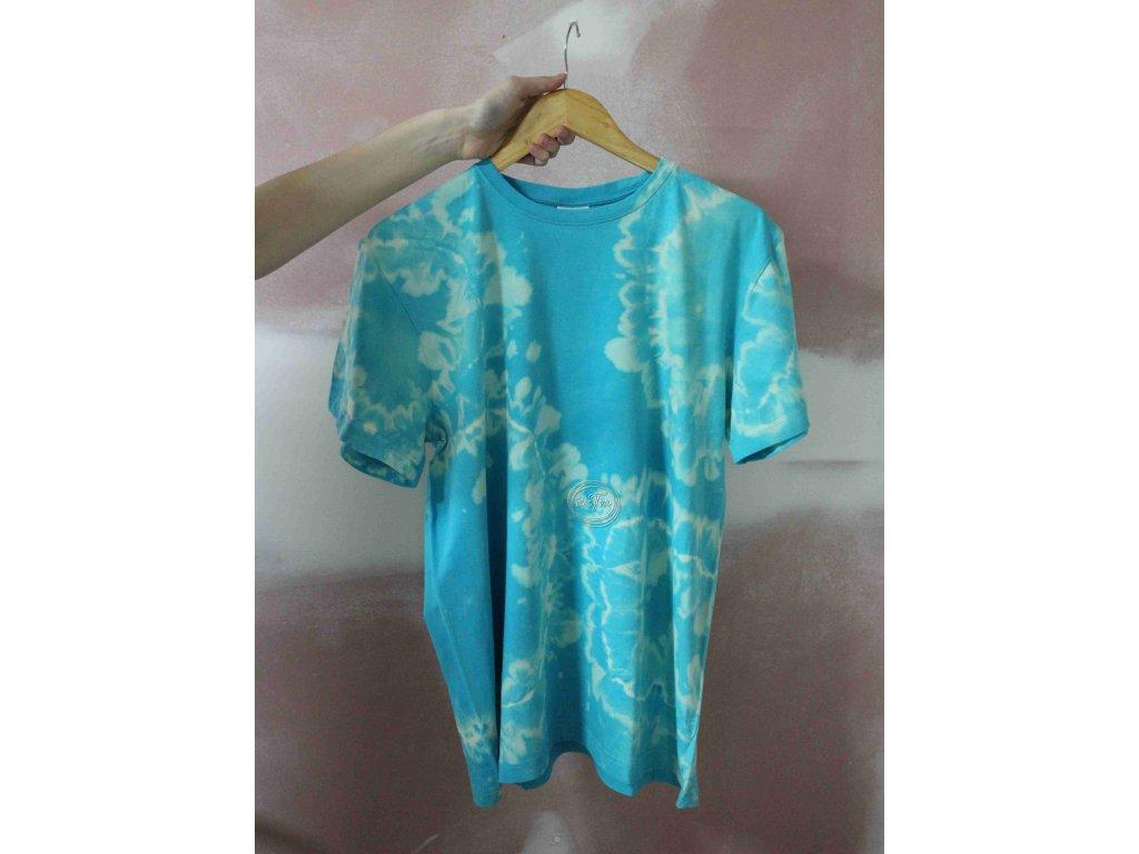 t-shirt uni L batik cotton tyrkys