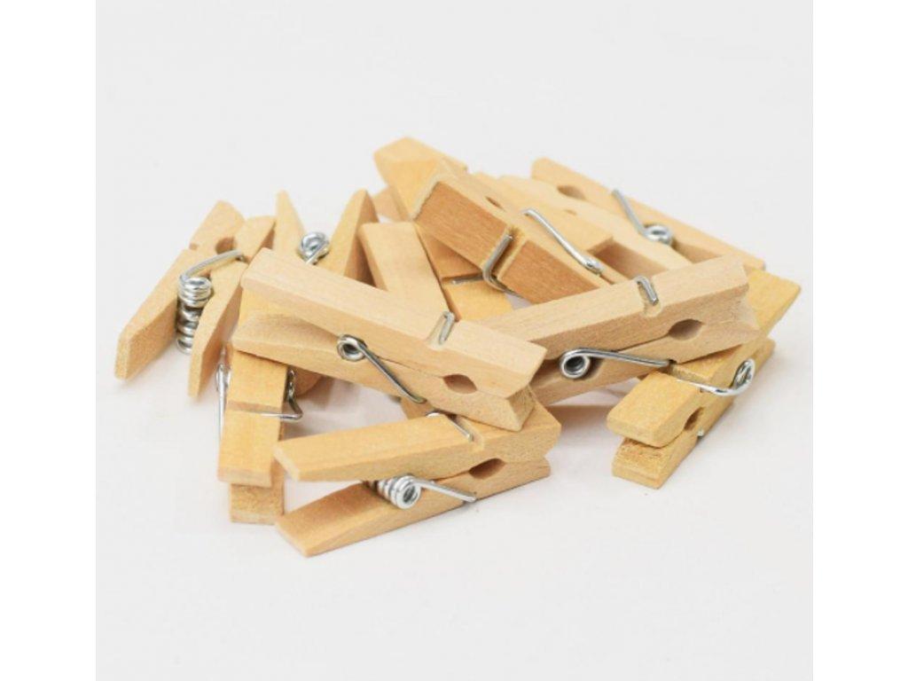 štipčeky drev.