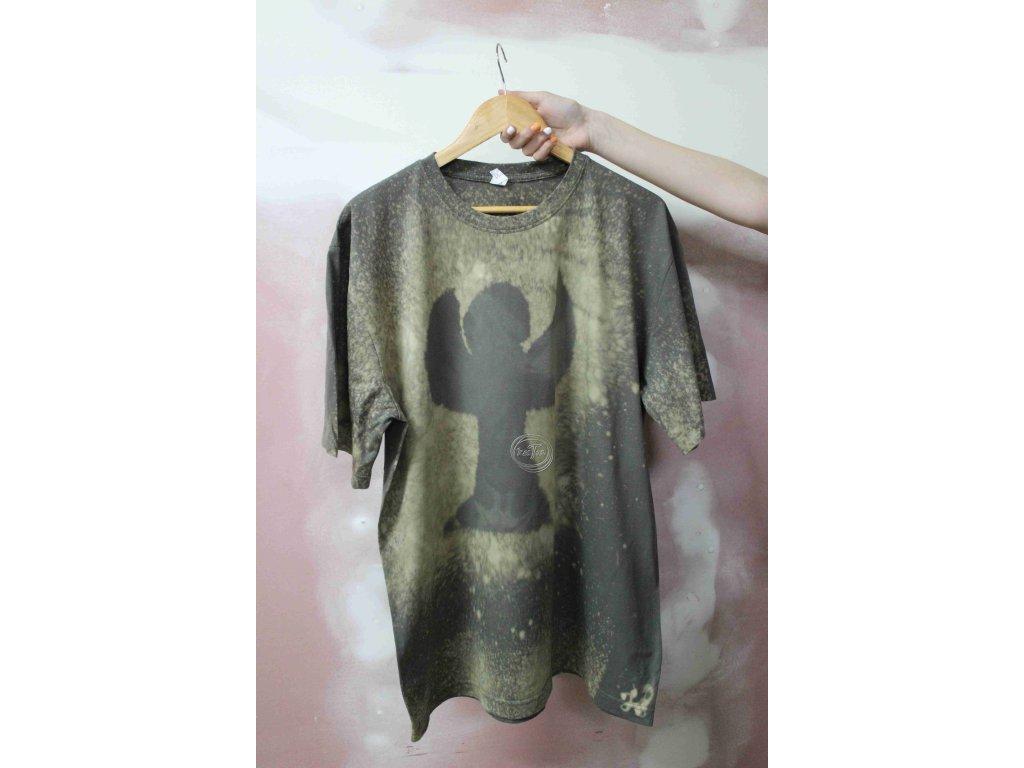 t-shirt uni 2XL batik cotton green