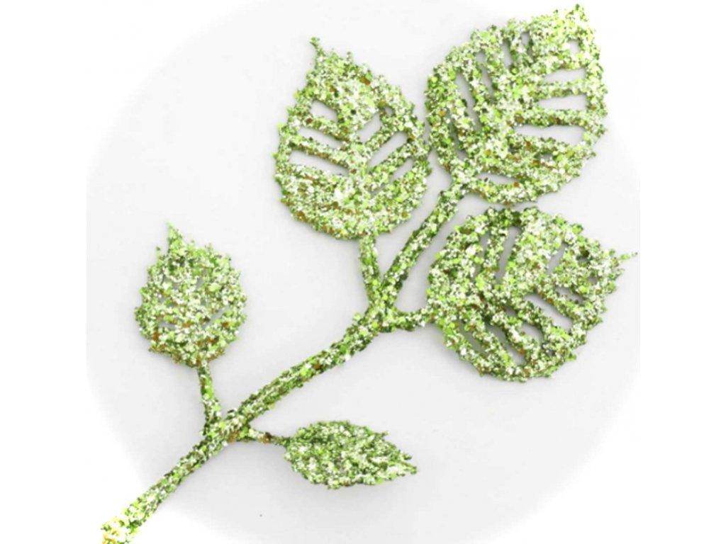 91607 list 13cm zelený lesklý
