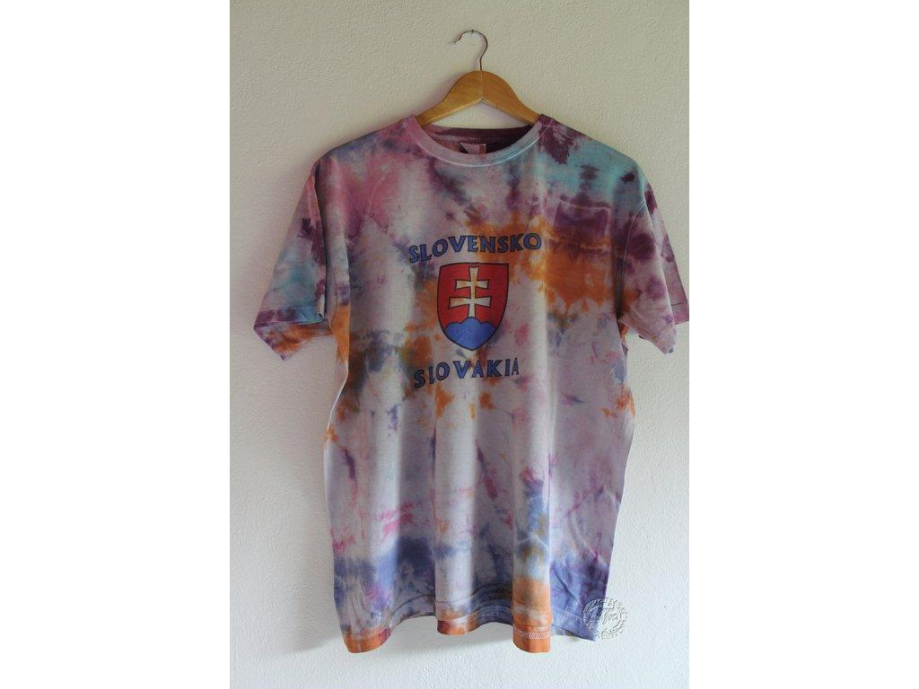 recy batikované tričko XL