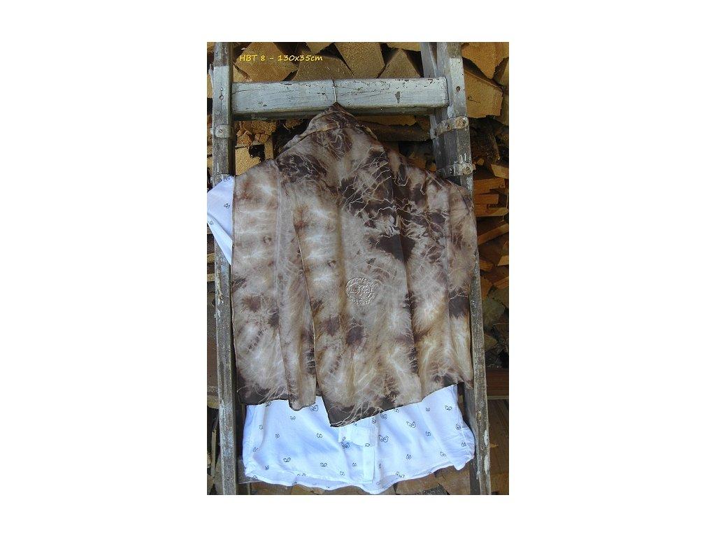 silk scarf 130x35 batik browb