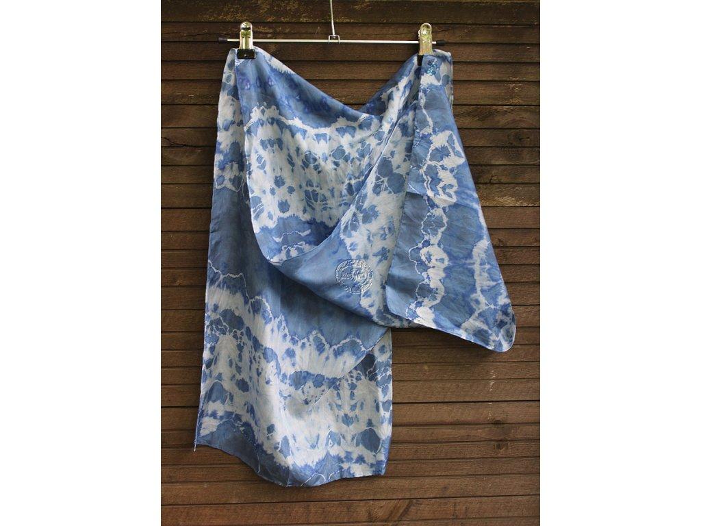 šál hodvábny 130x35 batika