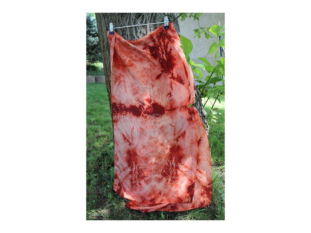 silk scarf hbt 8 batik orange