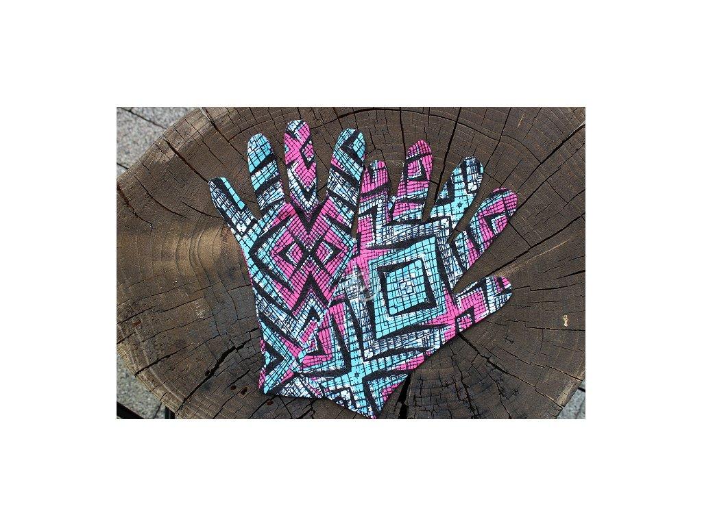 rukavičky úpletové farebné recyvec