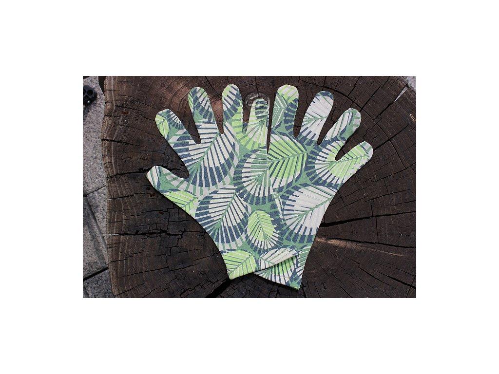 rukavice 5 prsté úpletové zelené farebné