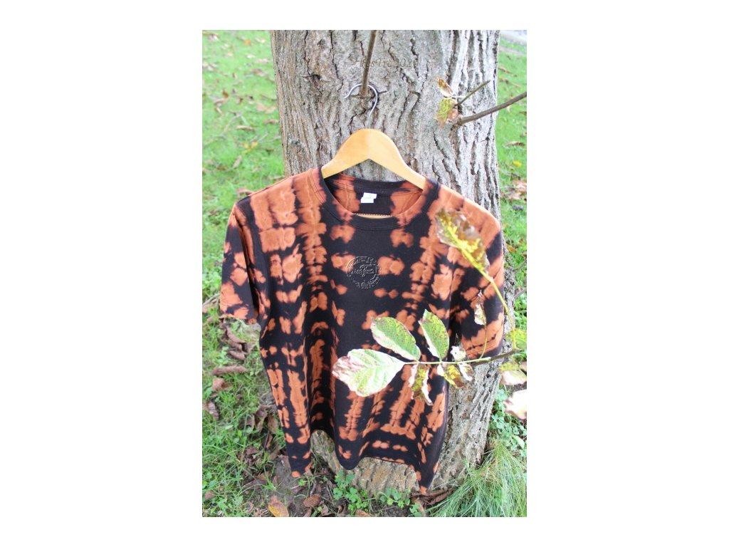 batikové tričko M bavlna