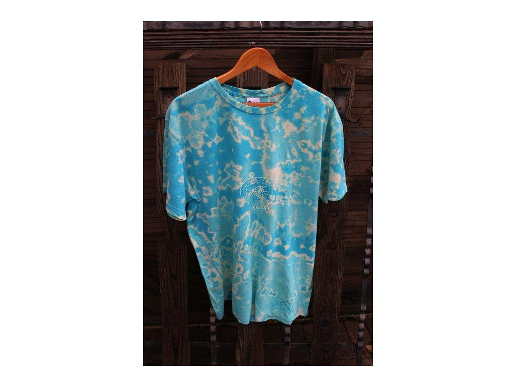 tričko uni batikované 2XL tyrkys