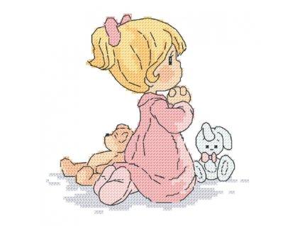 dievčatko modliace