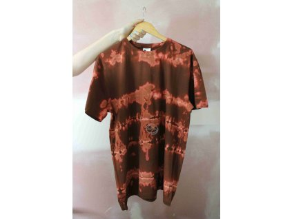 t-shirt uni XL brown batik cotton