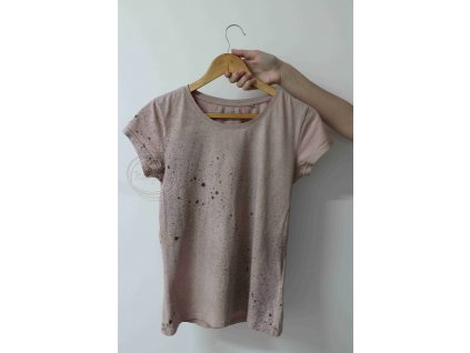 RecyVec_tričko batikované L bavlna ružová