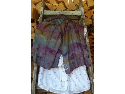 silk scarf 130x35 batik mauve