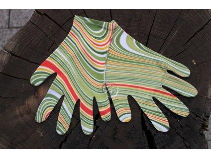 rukavice 5-prsté úpletové zelené