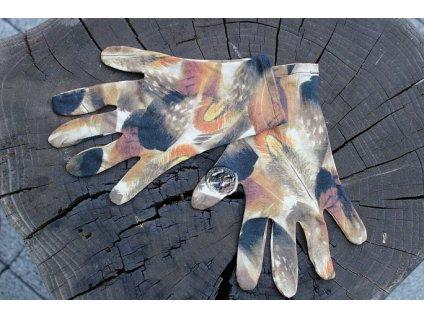 rukavice 5 prsté úpletové handmade