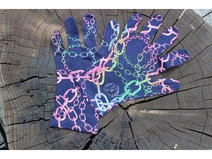 rukavice 5 prsté tenké úpletové farebné