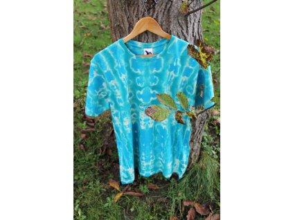 bavlnené batikové tričko XL